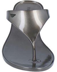 Emporio Armani Toe Strap Sandal - Grey