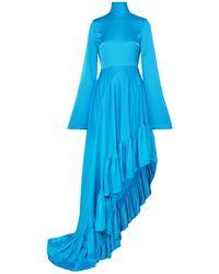 Solace London Knielanges Kleid - Blau