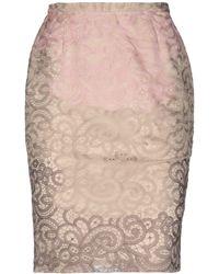 Cruciani Knee Length Skirt - Natural