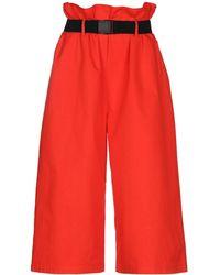 WEILI ZHENG 3/4-length Trousers - Red