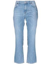 Aglini - Denim Trousers - Lyst