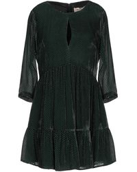 Black Coral Kurzes Kleid - Grün