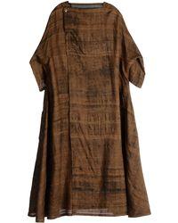 Renli Su 3/4 Length Dress - Brown
