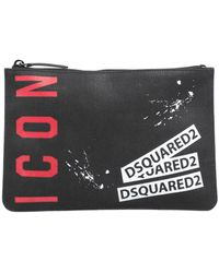 DSquared² 'Icon' Clutch - Schwarz