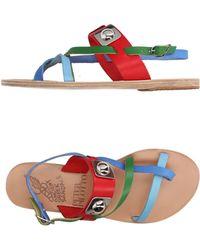 Ancient Greek Sandals Sandalias de dedo - Rojo