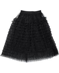 Care Of You 3/4 Length Skirt - Black