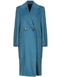Erika Cavallini Semi Couture Coat - Blue