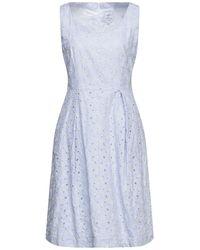 Sara Roka Midi Dress - Blue