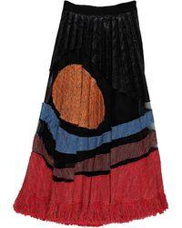 Aviu Midi Skirt - Red