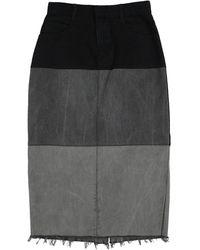 Ksenia Schnaider Denim Skirt - Black