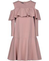 Alberta Ferretti Kurzes Kleid - Pink