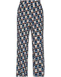 Via Masini 80 Casual Trouser - Blue