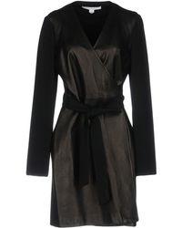 Diane von Furstenberg Overcoat - Black