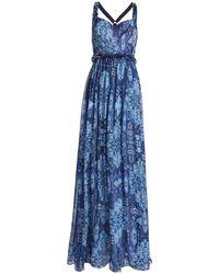 Matthew Williamson Langes Kleid - Blau