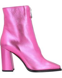 MSGM Ankle Boots - Pink