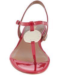 Emporio Armani Toe Strap Sandals - Red