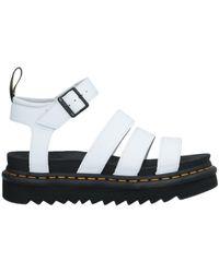 Dr. Martens Blaire Leather Sandal White