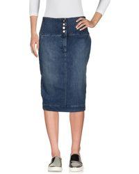 Elisabetta Franchi Gonna jeans - Blu