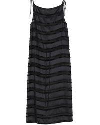 Jil Sander Navy 3/4 Length Dress - Black
