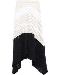 Mrz Knee Length Skirt - White