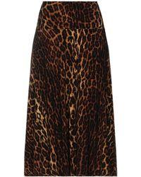 Norma Kamali 3/4 Length Skirt - Natural