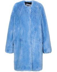 MSGM Teddy Coat - Blue