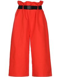 WEILI ZHENG 3/4-length Trousers - Red