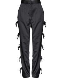 Self-Portrait Casual Trousers - Black