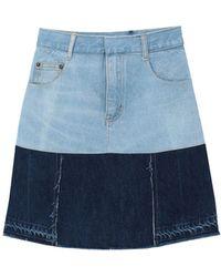 Ksenia Schnaider Denim Skirt - Blue