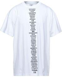 Vetements T-shirt - Blanc