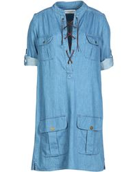 Etienne Marcel Short Dress - Blue