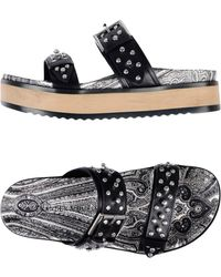 Alexander McQueen - - Studded Open Toe Sandals - Women - Leather/rubber - 39 - Lyst