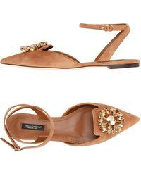Dolce & Gabbana Ballerine - Marrone