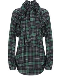 DSquared² Checked Pussybow Blouse - Green