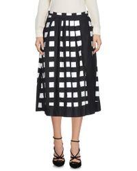 Blue Les Copains - 3/4 Length Skirt - Lyst