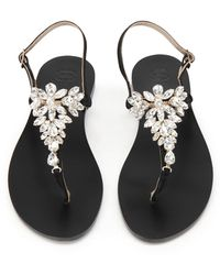 8 by YOOX Toe Post Sandals - Black