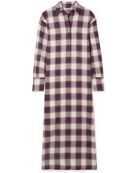 Elizabeth and James Badgley Checked Cotton Maxi Dress - Purple