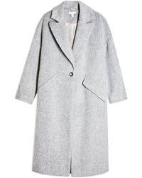 TOPSHOP Slouch Coat - Gray