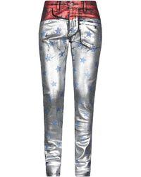 Filles A Papa Denim Trousers - Metallic