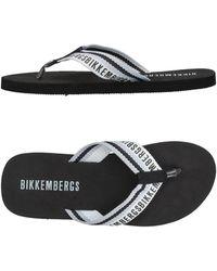 Bikkembergs Toe Strap Sandal - Black