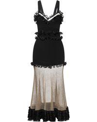 Alexander McQueen Vestido midi - Negro