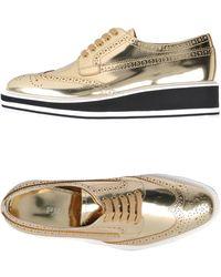 Prada Lace-up Shoe - Metallic