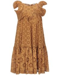 Manoush Short Dress - Brown