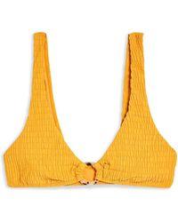 TOPSHOP Bikini Top - Yellow
