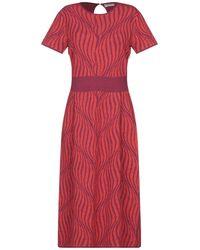 Stefanel Vestido por la rodilla - Rojo