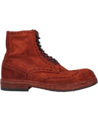 Pantanetti Ankle Boots - Red