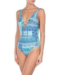Pierre Mantoux One-piece Swimsuit - Blue