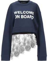 Filles A Papa Welcome On Board Women Navy Top - Blue