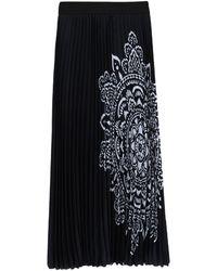 Clips Long Skirt - Black