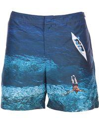 Orlebar Brown Bañadore tipo bóxer - Azul